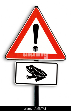 Toad-migration sign - Stock Photo