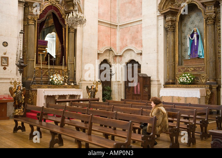 Lisbon Portugal Graça church interior - Stock Photo