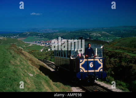 The Great Orme Tramway Near Llandudno Conwy North West Wales  - Stock Photo