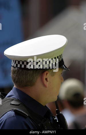 Prime Minister Tony Blair visits Nottingham. Part of his police escort - Stock Photo