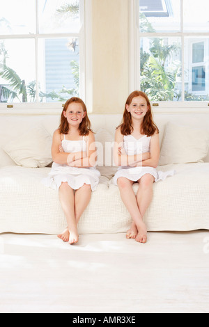 Portrait of Sisters - Stock Photo