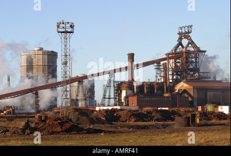 SSI blast furnace and steel factory Redcar Teesside Cleveland - Stock Photo