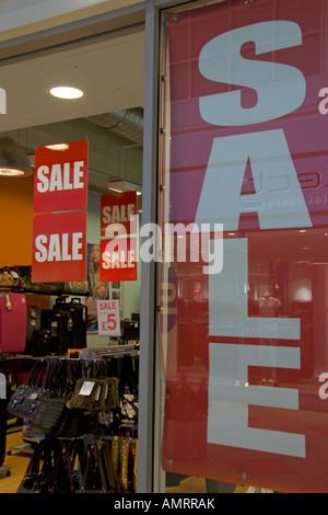 For Sale signs McCarthur Glen Designer Outlet Livingston Bathgate West Lothian Scotland - Stock Photo