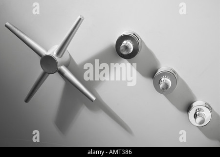 safe, vault door - Stock Photo