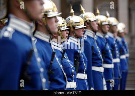 Royal Guards, Stockholm Palace, Stadsholmen, Stockholm, Sweden - Stock Photo