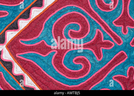 Felt and applique fabric from Xinjiang China Sold in Kashgar and routes along the Karakoram Highway - Stock Photo