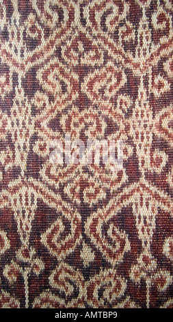 detail of an ikat patterned skirt woven by the iban people of sarawak malaysia borneo southeast - Iban Muster