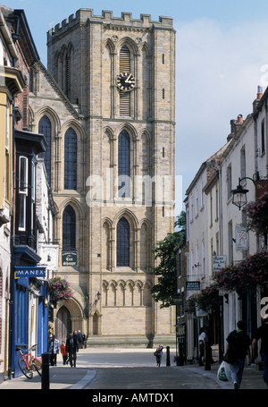 Ripon North Yorkshire England Great Britain cathedral western facade - Stock Photo