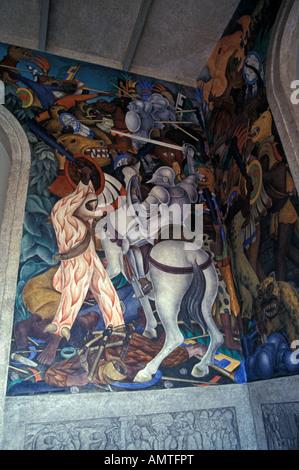 Palacio de cortes or palace of cortez in cuernavaca for Diego rivera aztec mural