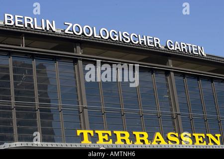 Zoo station (Bahnhof Zoologischer Garten), Berlin, Germany - Stock Photo