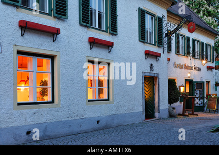 Restaurant Goldener Strauß, Dürnstein, area of Wachau, Lower Austria, Austria - Stock Photo