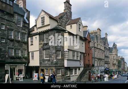 John Knox House, Edinburgh, Scotland - Stock Photo