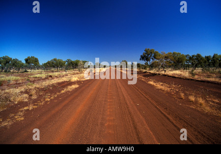 Track in the outback, Western Australia - Stock Photo