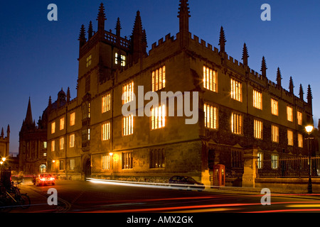 Bodleian library at night ,oxford,england. - Stock Photo