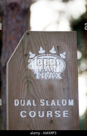 PICTURE CREDIT DOUG BLANE Beds Fat Trax Mountain Biking at the bike park at Rowney Warren Chicksands Bedfordshire - Stock Photo