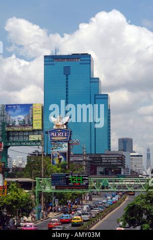 Traffic on city road, Bangkok, Thailand - Stock Photo