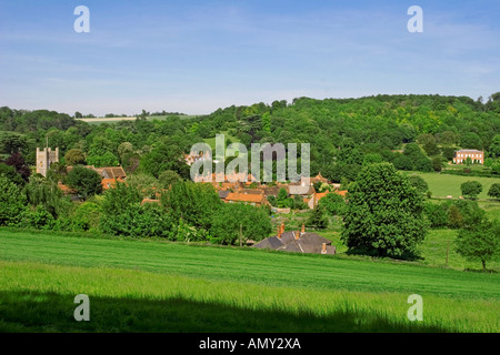 Hambleden Village Thames Valley Buckinghamshire - Stock Photo
