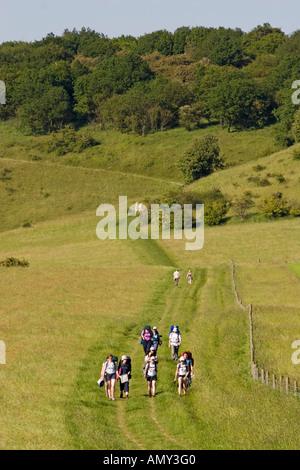 Countryside near Ivinghoe Beacon Buckinghamshire - Stock Photo