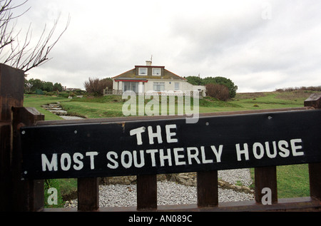 The most southerly house in Britain at Lizard Point in Cornwall England UK - Stock Photo
