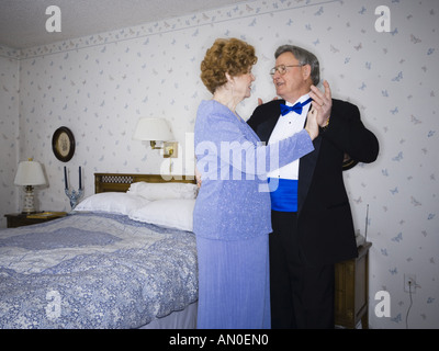 Senior couple dancing in their bedroom   Stock Photo. Young Couple Dancing In Bedroom Stock Photo  Royalty Free Image