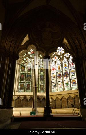UK London Westminster Abbey Chapter House entrance - Stock Photo