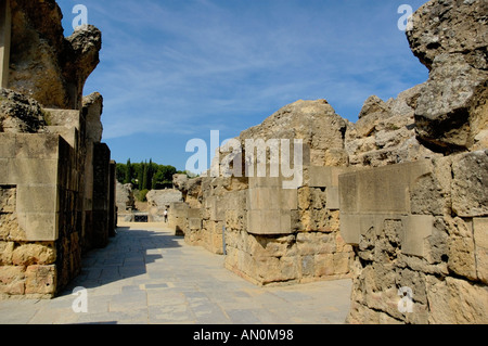 Spain Andalusia Seville Province Santiponce The Italica Roman Ruins - Stock Photo
