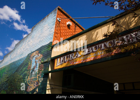 Butchers Shop in Leura Mall Blue Mountains New South Wales Australia - Stock Photo