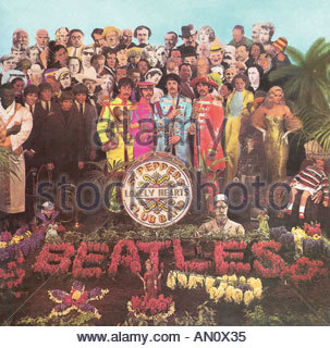 BEATLES cover for 1967 album Sergeant Pepper s Lonely Heart s Club Band from EMI - Stock Photo