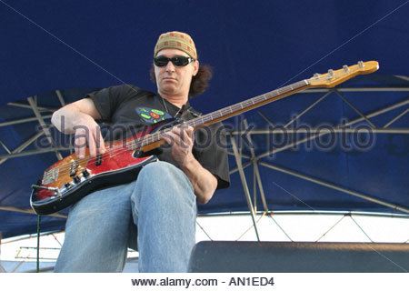 Coconut Grove Florida Arts Festival Jefferson Starship perform at free concert aging rock band - Stock Photo
