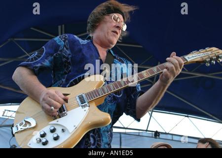 Coconut Grove Florida Arts Festival Jefferson Starship perform at free concert aging hard rock band guitarist Paul - Stock Photo