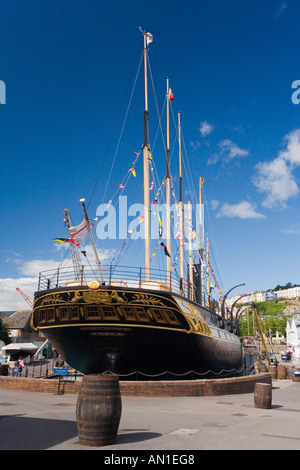 SS Great Britain ship on sunny summers day with blue sky and white clouds Bristol Avon Somerset UK - Stock Photo