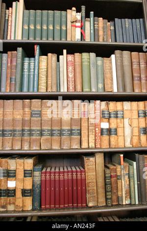 Raleigh North Carolina Mordecai Historic Park antique books Mordecai House - Stock Photo