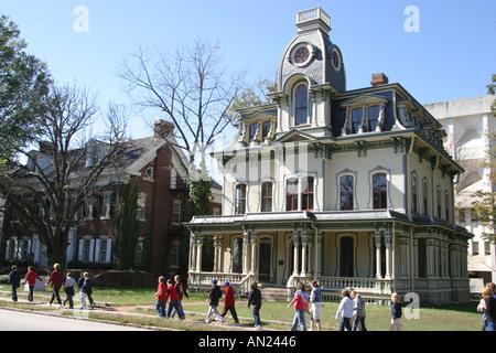 Raleigh North Carolina Blount Street historic Victorian style home - Stock Photo