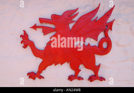 Welsh National Symbol Of The Red Dragon Y Ddraig Goch Attacking With
