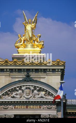 Opera Garnier home of Opera National de paris Place de l Opera Paris France EU Europe - Stock Photo