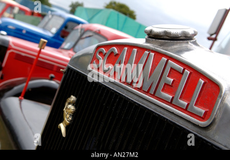 Name badge on SCAMMELL vintage truck - Stock Photo