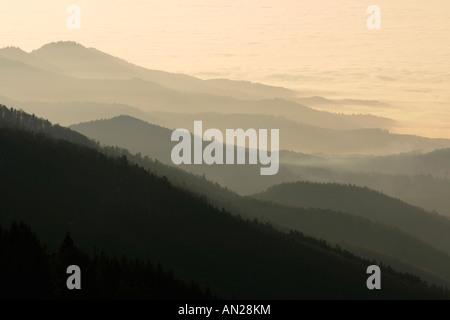 Blick vom Schauinslandaussichtsturm im Schwarzwald auf die Schweizer Alpen Deutschland Germany Look to the swiss Alps
