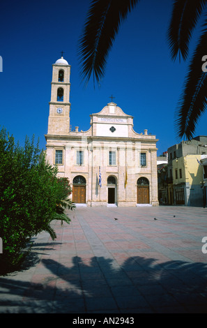 Cathedral of the Presentation of the Virgin Mary Trimartiri Chania Hania Crete Greece Europe - Stock Photo