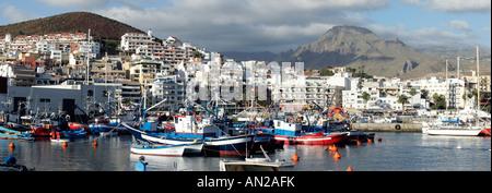 Kanaren Teneriffa Alter Hafen von Los Cristianos tenerife old harbor los christianos - Stock Photo