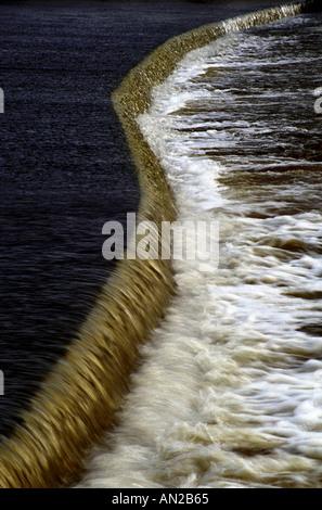 Hambledon lock weir at River Thames, England - Stock Photo