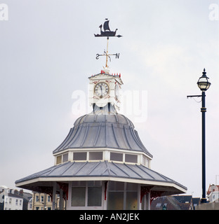 Viking Bay Bandstand in Broadstairs in Thanet in Kent in England in Great Britain in the United Kingdom UK. - Stock Photo