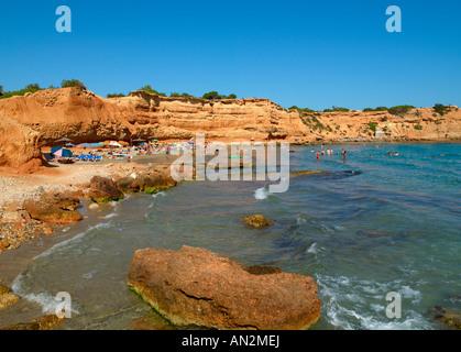 Ibiza, Sa Caleta Cove - Stock Photo