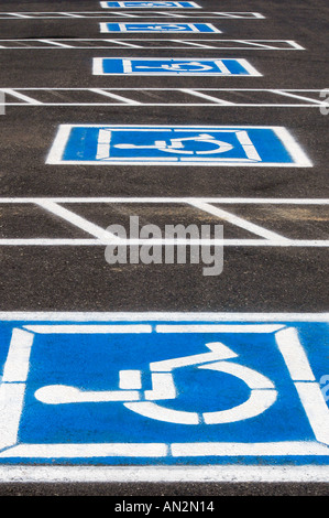 Handicap parking spaces - Stock Photo