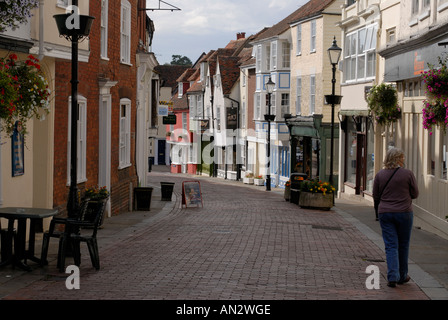 West Street in the port of Faversham Faversham Kent UK 10 August 2006 - Stock Photo
