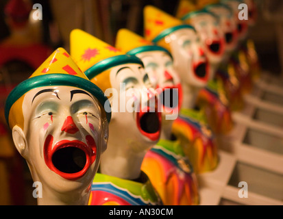 Sideshow clowns - Stock Photo