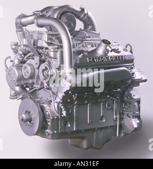 Diesel Engine In Stusio With White Background - Stock Photo