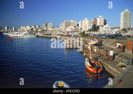 View of marina at Punta del Este in Uruguay - Stock Photo