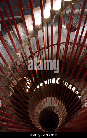Spiral staircase Ljubljana castle Ljubljana Slovenia Europe - Stock Photo