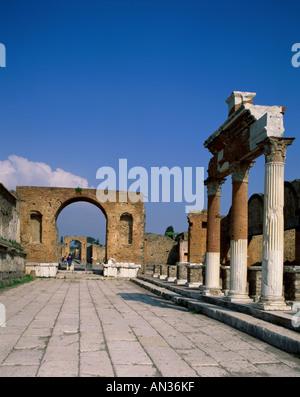 Roman Ruins, Pompeii, Italy - Stock Photo