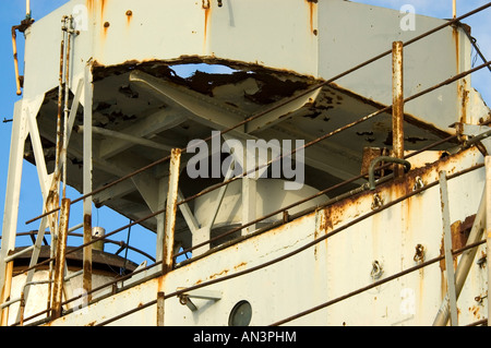 Wreck RFA Galle Portsmouth Harbour Hampshire England UK - Stock Photo